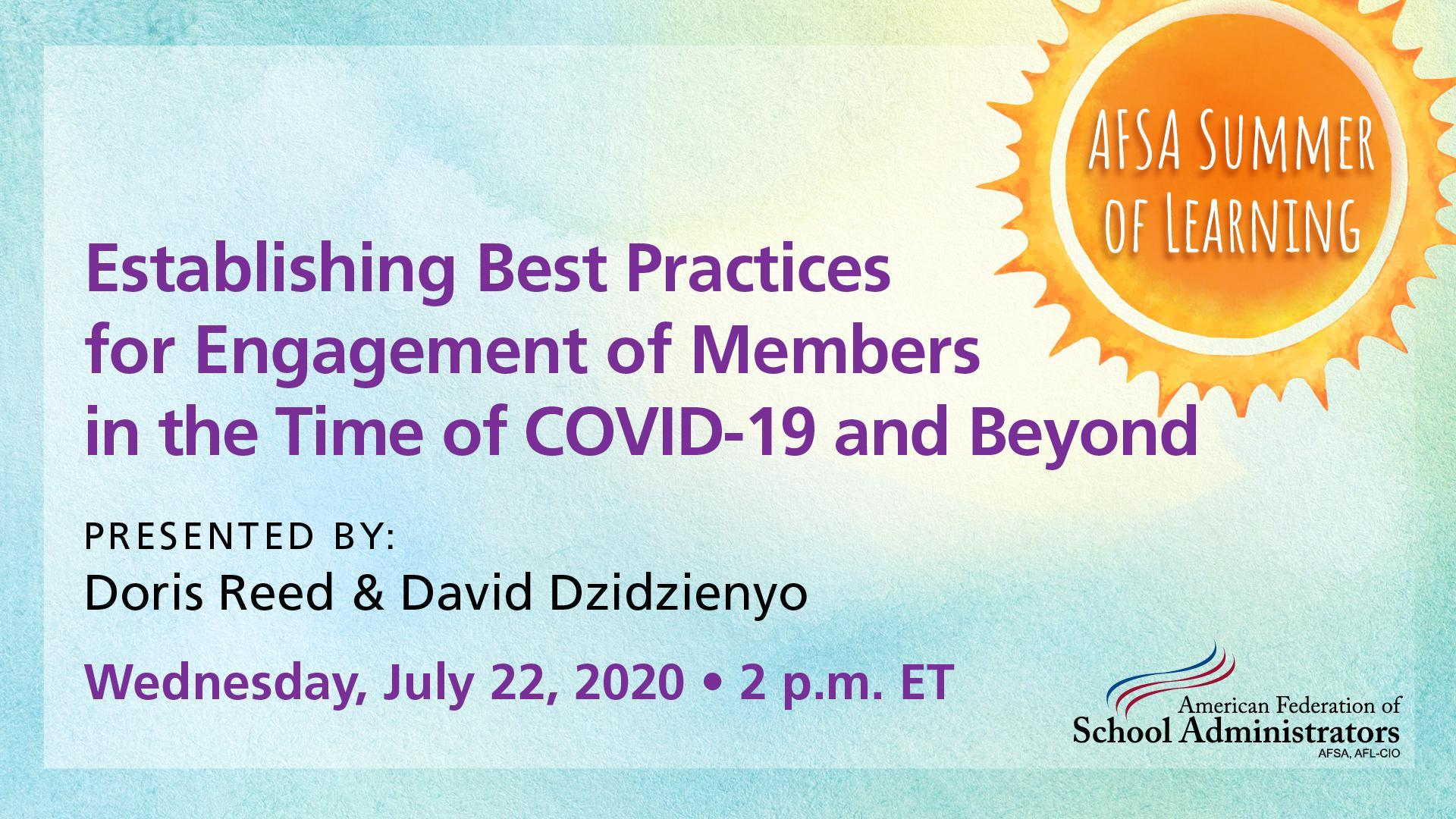Establishing Best Practices for Continued Engagement of Members in the Time of COVID-19 and Beyond